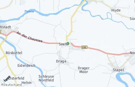 Stadtplan Seeth