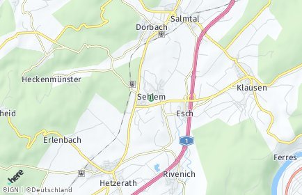 Stadtplan Sehlem (Eifel)