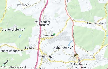 Stadtplan Sembach