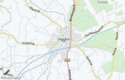 Stadtplan Senden (Westfalen)