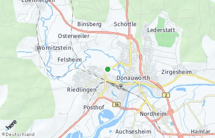 Stadtplan Donau-Ries