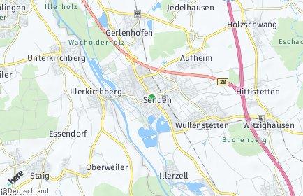 Stadtplan Senden (Bayern)