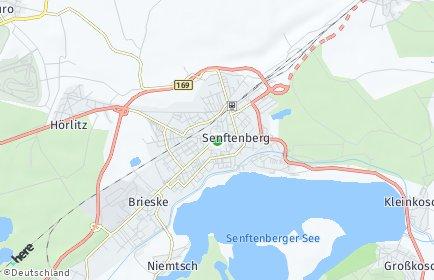 Stadtplan Senftenberg OT Niemtsch