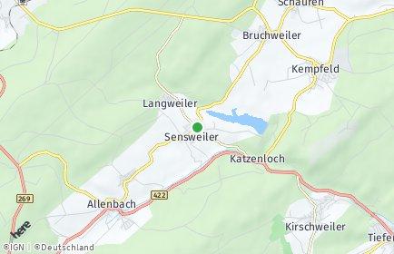 Stadtplan Sensweiler