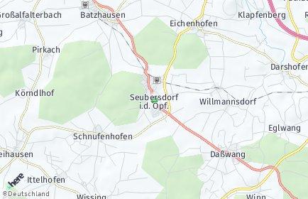 Stadtplan Seubersdorf in der Oberpfalz