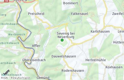 Stadtplan Sevenig bei Neuerburg