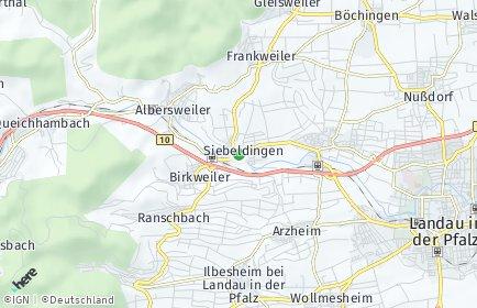 Stadtplan Siebeldingen