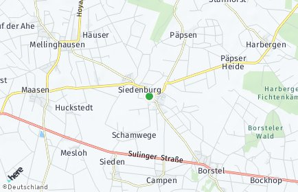 Stadtplan Siedenburg