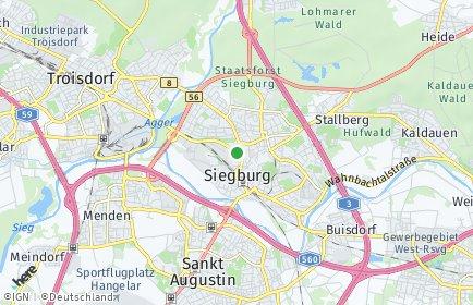 Stadtplan Siegburg