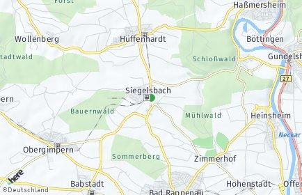 Stadtplan Siegelsbach