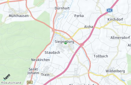 Stadtplan Siegenburg