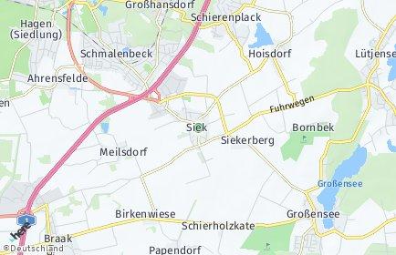 Stadtplan Siek