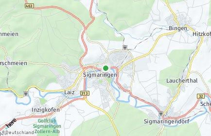 Stadtplan Sigmaringen