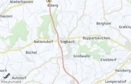 Stadtplan Simbach