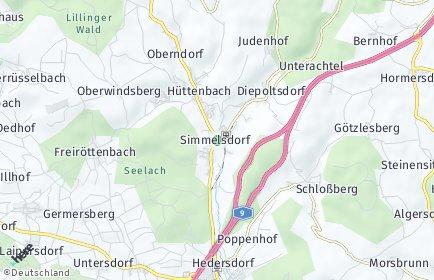 Stadtplan Simmelsdorf