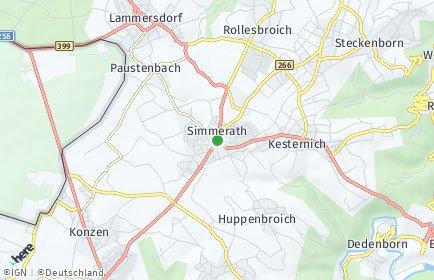 Stadtplan Simmerath