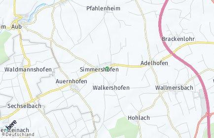 Stadtplan Simmershofen