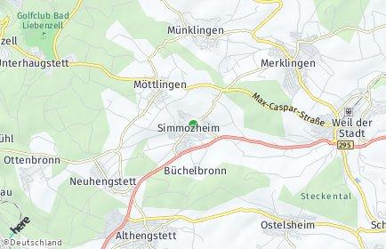Stadtplan Simmozheim