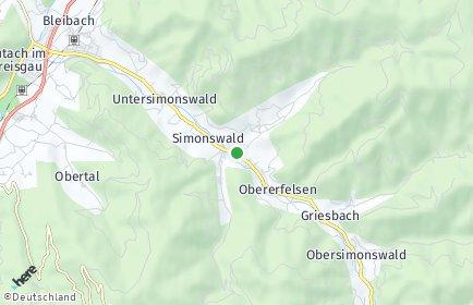 Stadtplan Simonswald