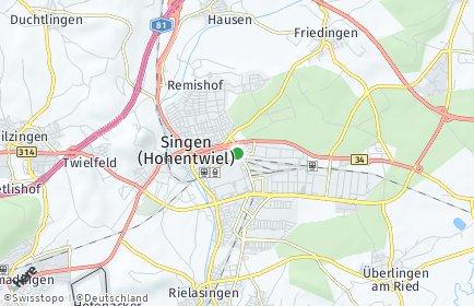 Stadtplan Singen OT Hausen