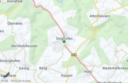 Stadtplan Singhofen