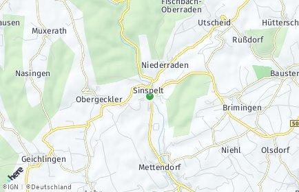 Stadtplan Sinspelt