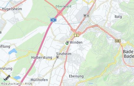 Stadtplan Sinzheim