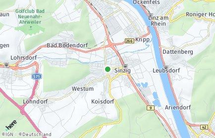 Stadtplan Sinzig
