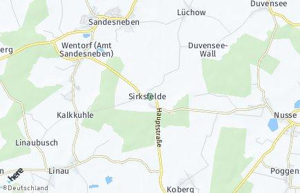 Stadtplan Sirksfelde