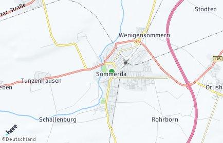 Stadtplan Sömmerda OT Wenigensömmern