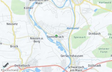 Stadtplan Sommerach