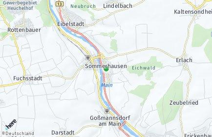 Stadtplan Sommerhausen