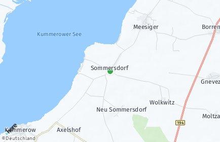 Stadtplan Sommersdorf bei Demmin