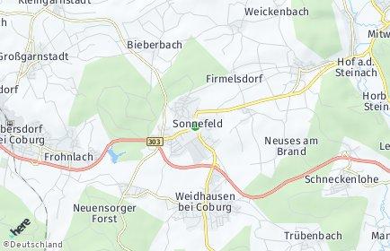 Stadtplan Sonnefeld
