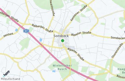Stadtplan Sonsbeck