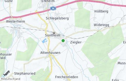 Stadtplan Sontheim (Schwaben) OT Laubers