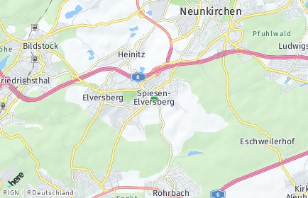 Stadtplan Spiesen-Elversberg