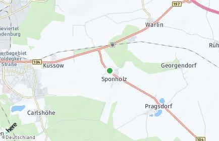 Stadtplan Sponholz