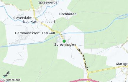 Stadtplan Spreenhagen