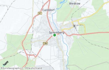 Stadtplan Spremberg