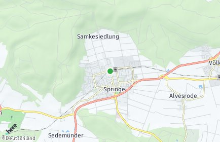 Stadtplan Springe OT Eldagsen, Deister