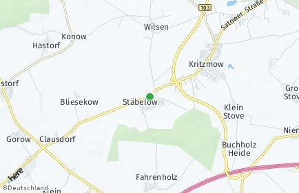 Stadtplan Stäbelow