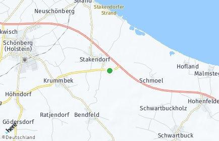 Stadtplan Stakendorf