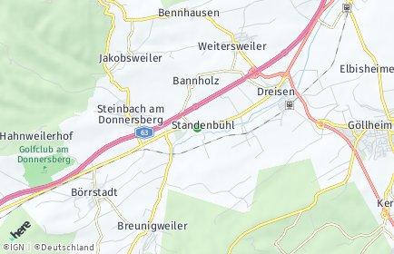 Stadtplan Standenbühl