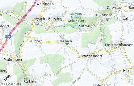 Stadtplan Starzach