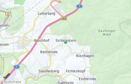 Stadtplan Staufenberg (Niedersachsen)