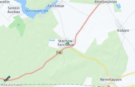 Stadtplan Stechow-Ferchesar