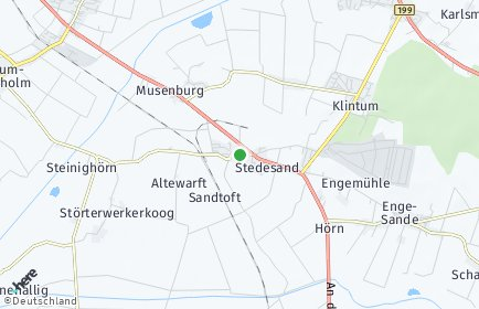 Stadtplan Stedesand