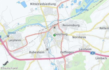 Stadtplan Günzburg