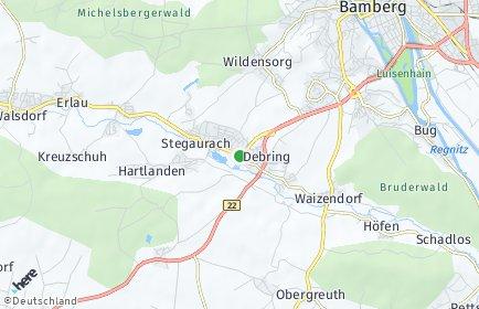 Stadtplan Stegaurach